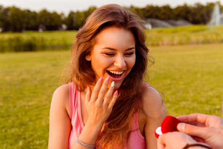 man made: man made a proposal to his girlfriend to marry