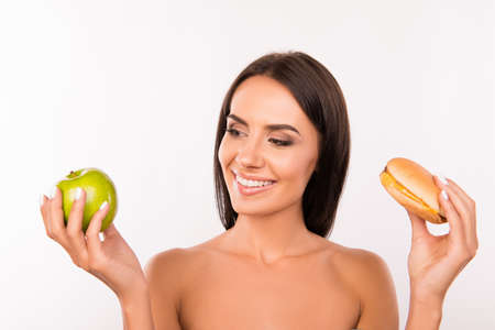 unwholesome: happy young woman l decided to go on a diet