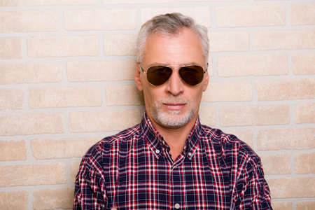 handsome old man: Portrait of handsome old man with sunglasses