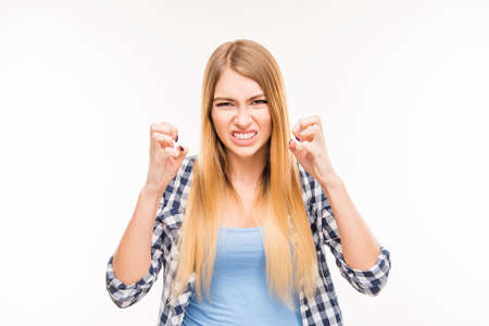 Portrait of girl in bad mood Reklamní fotografie