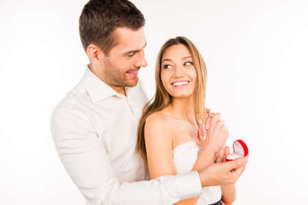 suddenness: Attractive man makes a proposal to his girlfriend