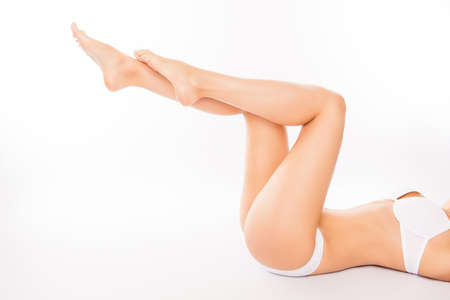Close up photo of smooth woman's legs with perfect skin Stock Photo - 60851867