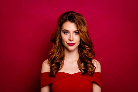 Portrait of beautiful, attractive, pretty, dreamy woman Standard-Bild