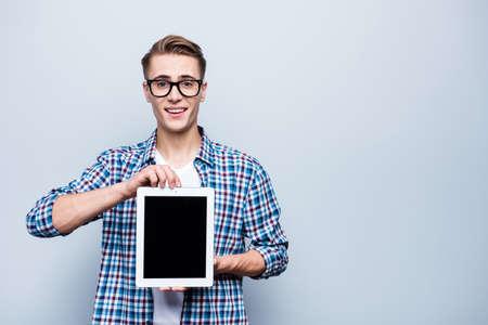 Close Up retrato de inteligente, inteligente, guapo, atractivo. Foto de archivo