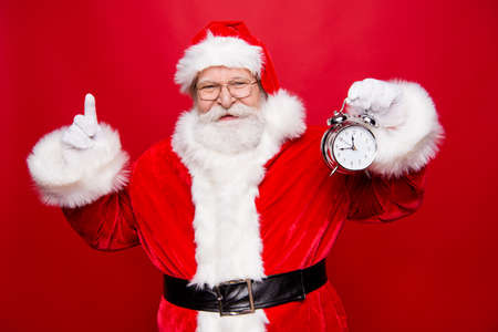 Holly jolly x mas coming! Punctual free time concept. Stylish ma
