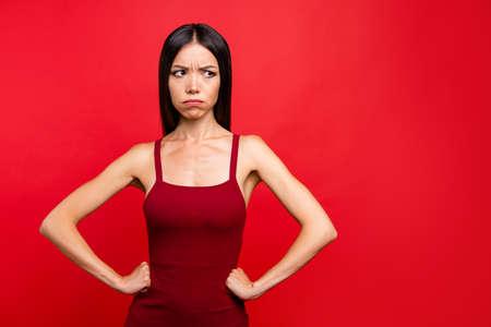 Porträt der Frau mit Ausdruck.