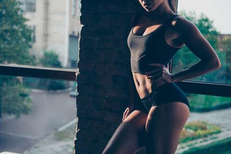Beautiful sportive girl posing Stock Photo