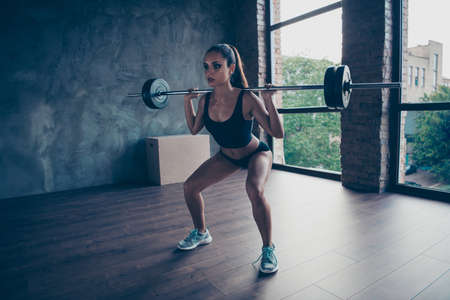 Full length body size of healthy perfect shaped fitness girl Banco de Imagens