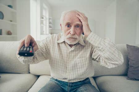 retrato, de, canoso, anciano