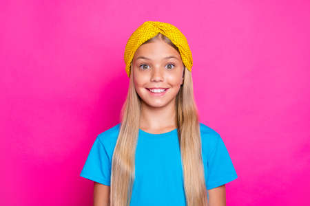 Portrait of funny funky girl listen incredible news scream wow omg wear fashionable outfit isolated over bright color pink fuchsia background