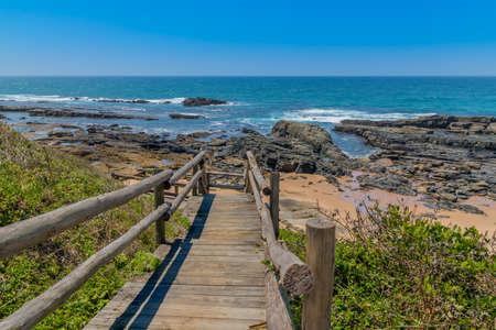 南アフリカ、クワズール ナタールの美しい海岸線 写真素材
