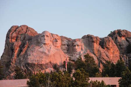 mount jefferson: Mount Rushmore at sunrise Stock Photo