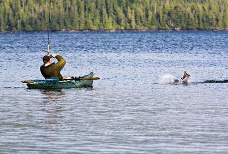 Salmon Fishing in Kayak photo