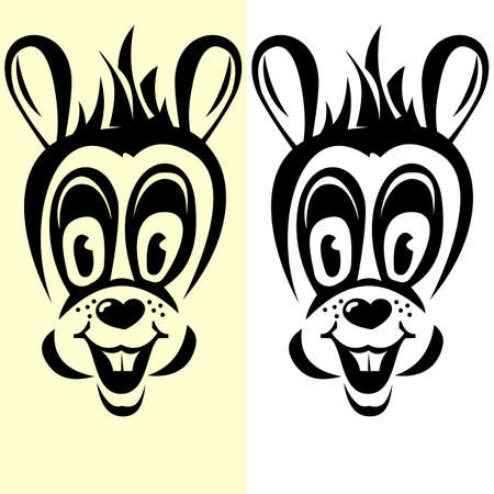 half-transparent cartoon-style rabbit silhouette Vector