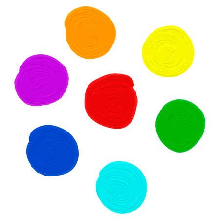 colors paint: oil paint set in seven different colors Illustration