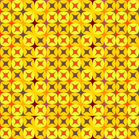 vibrant seamless pattern in warm tones Illustration