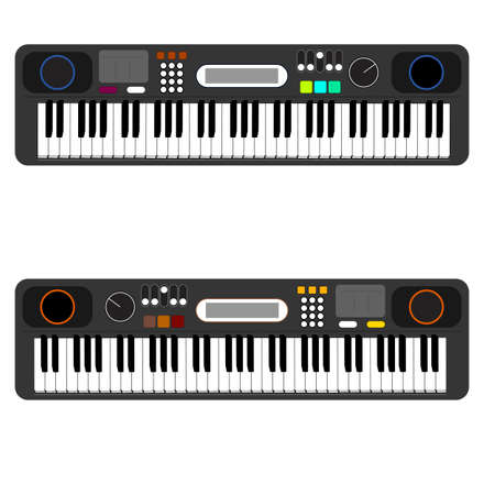 fingerboard: digital piano with display iilustrations