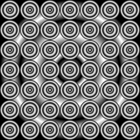 concentric: abstract concentric grayscale seamless pattern