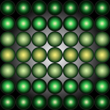 vanish: abstract green gradient spheres background