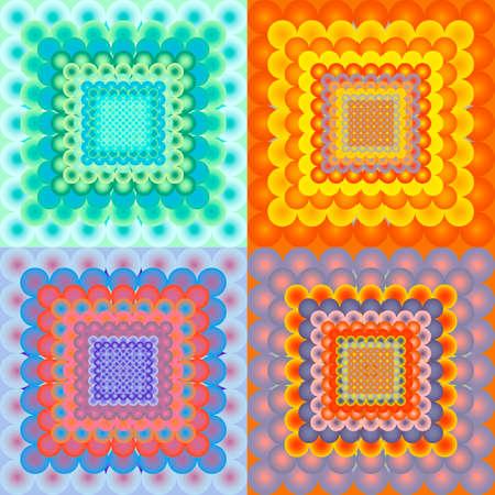 vanishing: abstract vanishing gradient spheres background set Illustration