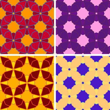 figuras abstractas: sin costuras de color figuras abstractas patrón establecido