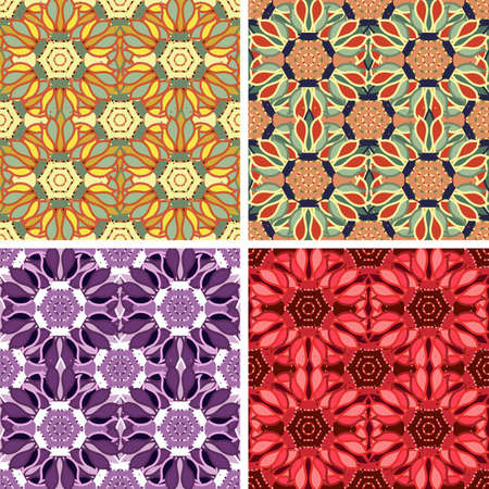 weaved: colored abstract art pattern set