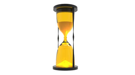 seeps: transparent hourglass render in yellow tones