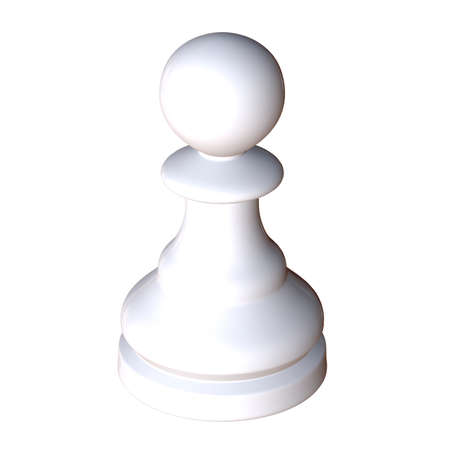 enemies: 3d illustration of isolated chess game figurine