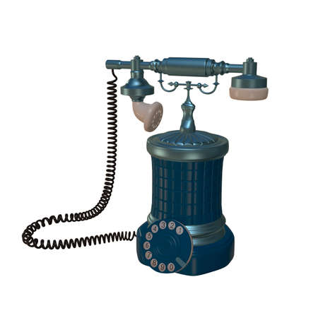 dial: retro style dial vintage phone 3d illustration Stock Photo