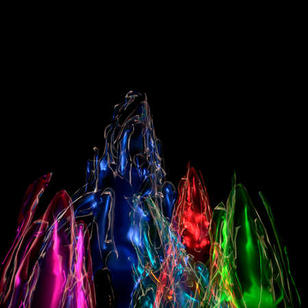 perceptual: 3d iilustration of visual effect with light