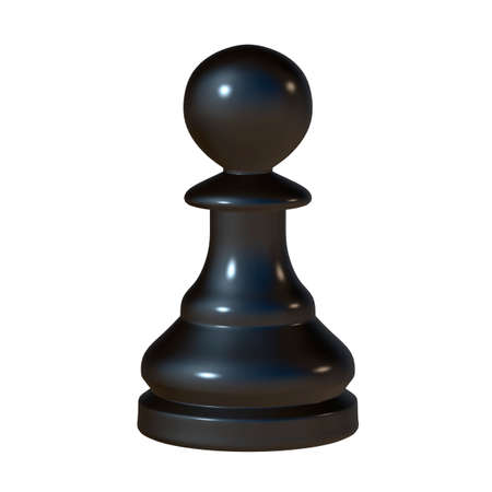 enemy: 3d illustration of isolated chess game figurine