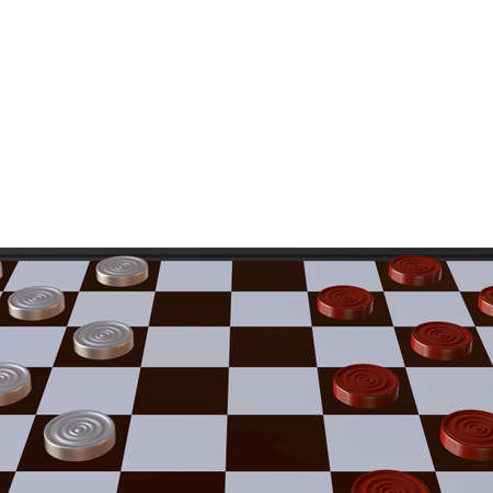 defeated: 3d illustration of chess  situation with board