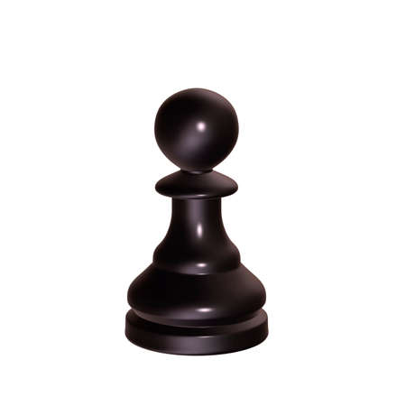 3d illustration of isolated chess game figurine