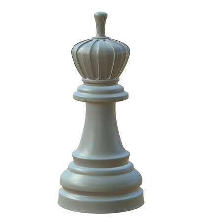 defeated: 3d illustration of isolated chess game figurine