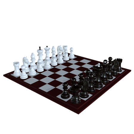 battle plan: 3d illustration of chess  situation with figures