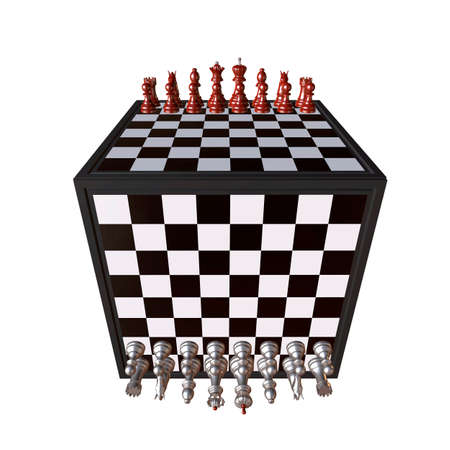 enemy: 3d illustration of chess  situation with board