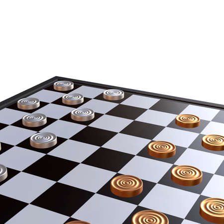 dominance: 3d illustration of chess  situation with board