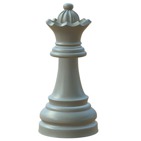 battle plan: 3d illustration of isolated chess game figurine