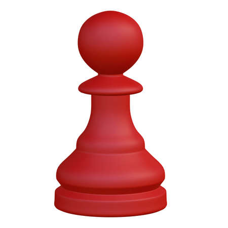 dominance: 3d illustration of isolated chess game figurine