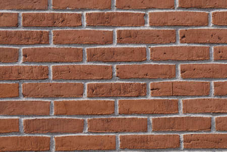 Red bricks stone wall