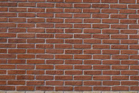 Red bricks stone wall