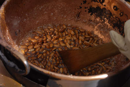 suger: Walnuts been burnt in suger and water