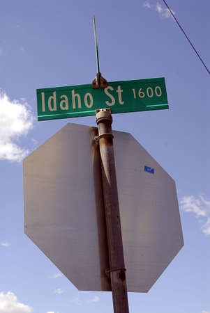 idaho state: LEWISTON  IDAHO STATE USA  .   Idaho St.1600 street sign in Lewiston 13 July 2010         (PHOTO BY FRANCIS JOSEPH DEAN  DEAN PICTURES) Editorial
