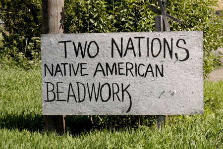 sweetwater: SWEETWATER   IDAHO STATE USA  Tow nations Native American beadwork billboard and  Nez perce indian reservation . 15 July 2010           (PHOTO BY FRANCIS JOSEPH DEAN  DEAN PICTURES)