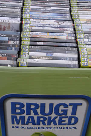 blockbuster: DENMARK  COPENHAGEN . Second hand movies and games for sale exchange and sale at blockbuster store in kastrup 29 August 2010      (PHOTO BY FRANCIS JOSEPH DEAN  DEAN PICTURES)