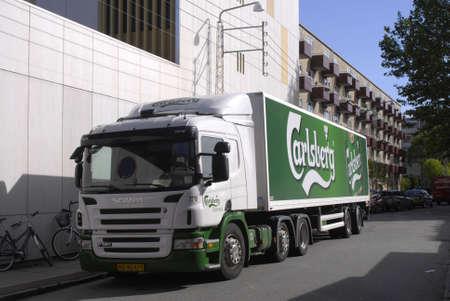 carlsberg: DENMARK  COPENHAGEN . Carlsberg Danmark beer delivery lorry 30 August 30