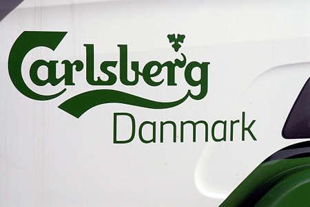 carlsberg: DENMARK  COPENHAGEN . Carlsberg Danmark beer delivery lorry 30 August 30      (PHOTO BY FRANCIS JOSEPH DEAN  DEAN PICTURES)