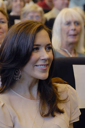 DENMARK / COPENHAGEN .H.R.H.Crown princess Mary protactor of Brain demage association arrives at 25 years jubilee celebration of Brain Demage association at Copenhagen Univeristy at Amager Copenhagen tdoay on tuesday 31 Auguist 2010      Stock Photo - 7659731