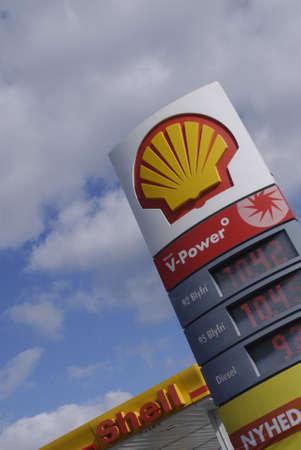 KASTRUPCOPENHAGENDENMARK _ Shell gasoline  fuelsave blyfri 95 billbaord  1 Oct. 2010
