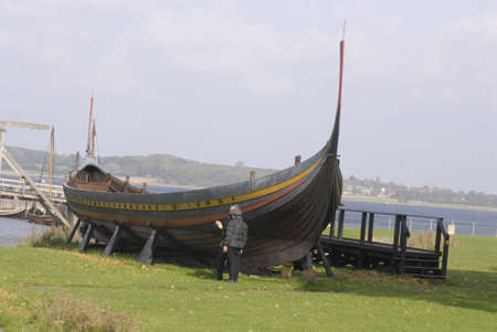 DENMARK  ROSKILDE . Viking ship 4 October 2010